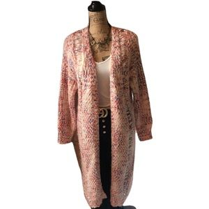 Pol multicolored knitted long sleeved cardigan